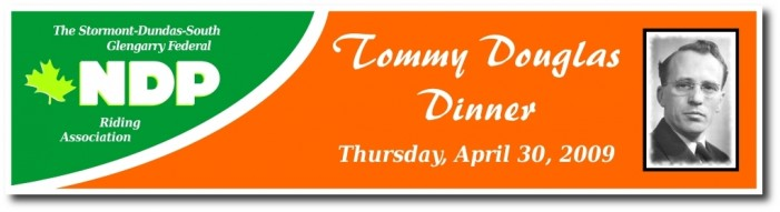 NDP Tommy Douglas Dinner – Thursday April 30