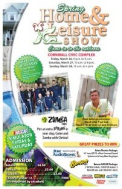 Cornwall Ontario Chamber of Commerce presents their Spring Home & Leisure Show at the Cornwall Civic Complex March 26-28 – Mark Cullen, Go To Guys – Benson NASCAR Simulator