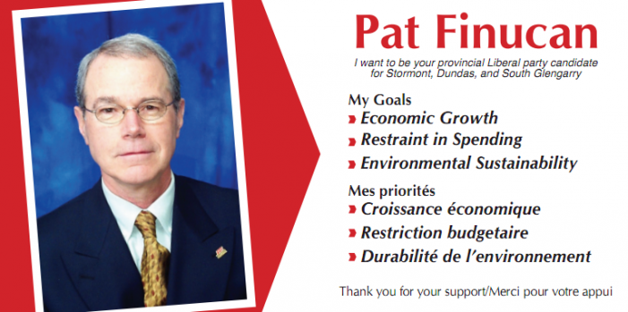 Pat Finucan Wants to be your Liberal Candidate for SD&SG Ontario in the October Provincial Election