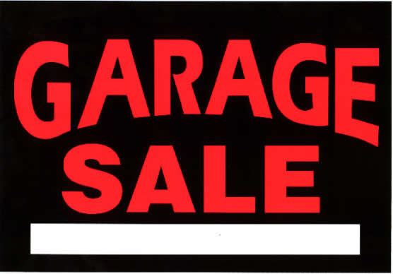 Massive Garage Sale Friday October 7th Monday October 10th