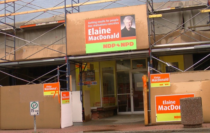"""""""I didn't feel I could take a day out of the campaign."""" NDP candidate Elaine MacDonald stuns Party Loyals by Refusing to take the Do the Math  5 Day Challenge VIDEO Agape Centre All Candidates Debate – September 15, 2011"""