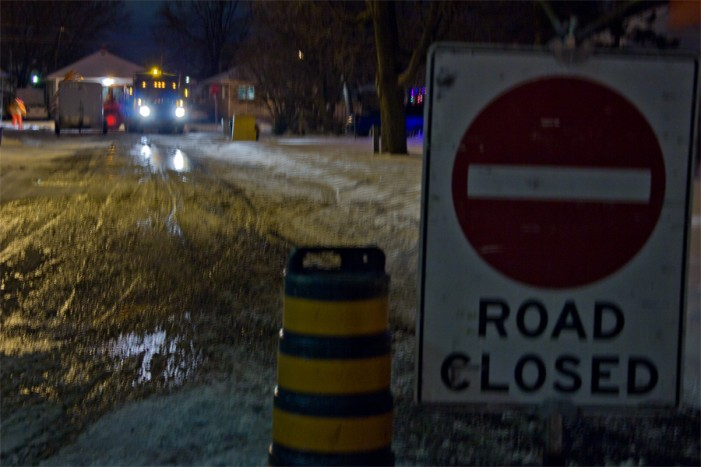 Flooding in Riverdale Section of Cornwall Ontario Inflames Wet Weather – December 30, 2011
