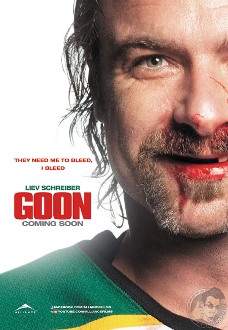 3 Guys, 4 Teeth, GOON Scores Big!  Movie Review by Jamie Gilcig Liev Schreiber Award Worthy!