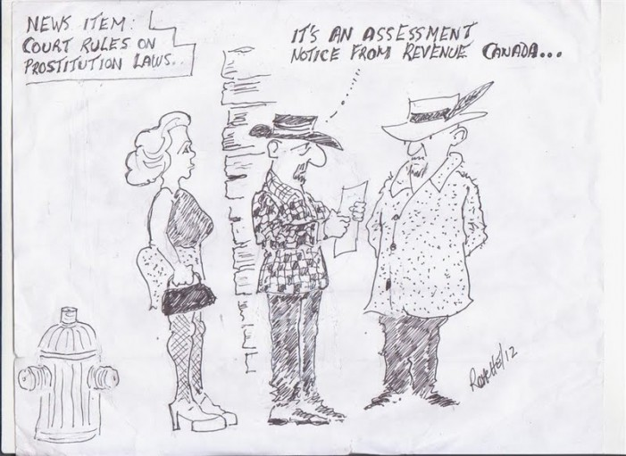 Political Times by Mike Roache – Canadian Prostitution – March 26, 2012