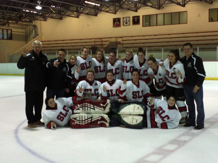 St. Lawrence College Cornwall Sharks Women's hockey team completes threepeat! March 19, 2012