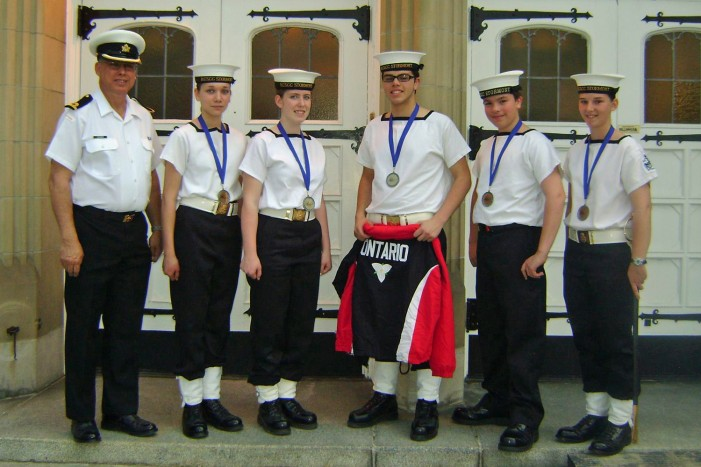 CORNWALL ONTARIO AREA SEA CADETS HONOURED AT AWARDS NIGHT by Don Smith