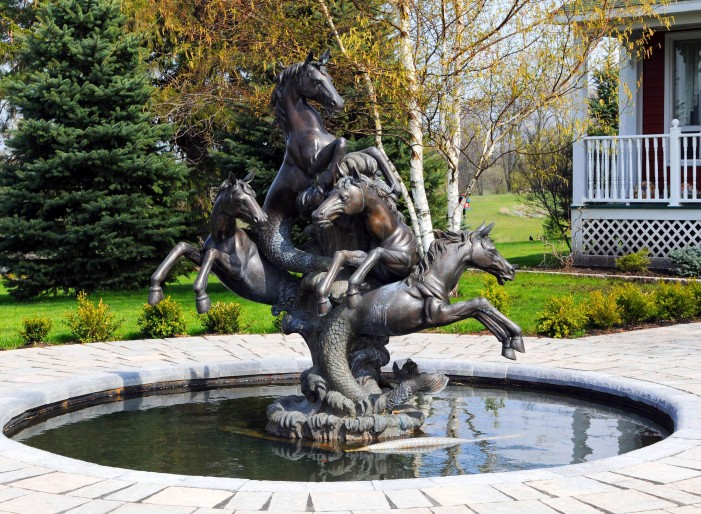 Your Cornwall Free News Photo of the Day by Calvin Hanson – Bronze Fountain Horse – May 2, 2012