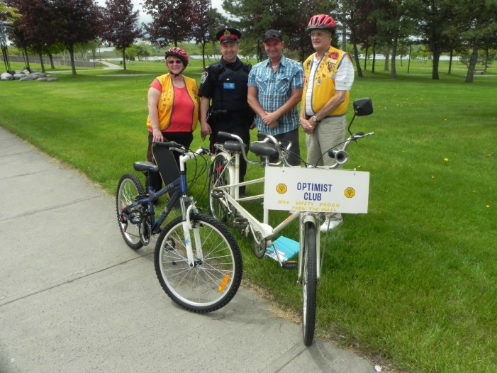 Optimist Club Bike Rodeo – Cornwall Ontario Civic Complex – May 26th 9AM- Noon