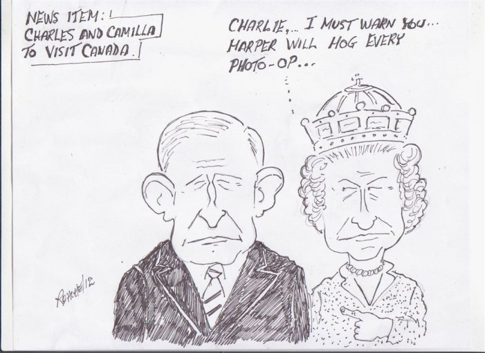 Political Times by Mike Roache – Chuck & Camilla to Visit Canada – May 1, 2012