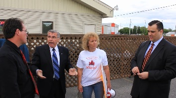 MP Guy Lauzon & Minister Moore Confronted by Cornwall Ontario LFA Protest in Chesterville by Don Smith HD VIDEO