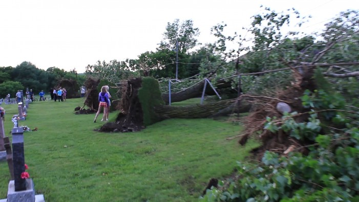 Hail & Tornado Pelts Cornwall Ontario – Trees Over Turned – Cars Pinned – No UFO's Reported – June 9, 2012