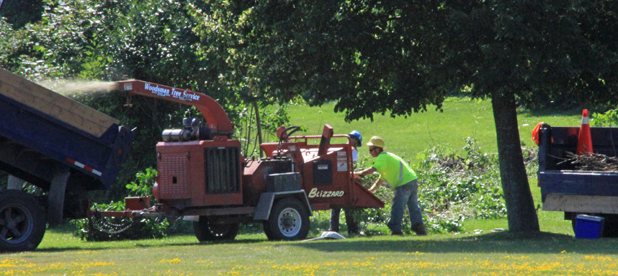 Slash and Mulch in Cornwall Ontario – Lamoureux Park Preps for Canada Day 2012 by Don Smith