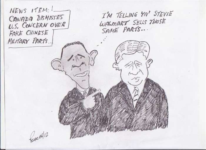 Political Times by Mike Roache – Fake Chinese Parts – June 10, 2012