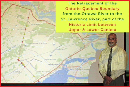Retracing the Boundary between Upper & Lower Canada by Don Smith
