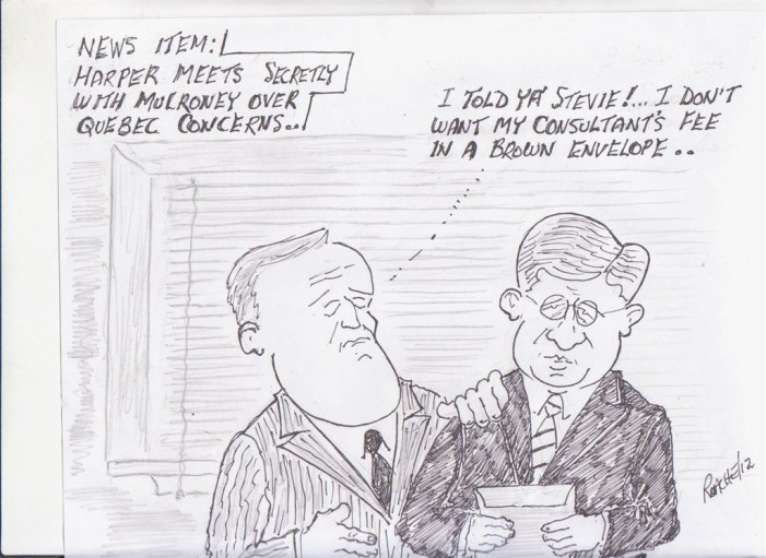 Political Times by Mike Roache – Mulroney Consult on Quebec with Harper – June 23, 2012
