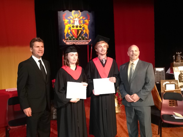 CCVS Graduation Today in Cornwall, Ontario by Don Smith
