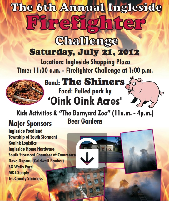 6th Annual Ingleside Ontario Firefighter Challenge – Saturday July 21, 2012