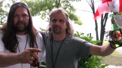 Jeff Brunet of Alkaline Entertainment with Rene Martin of King Street Percussion
