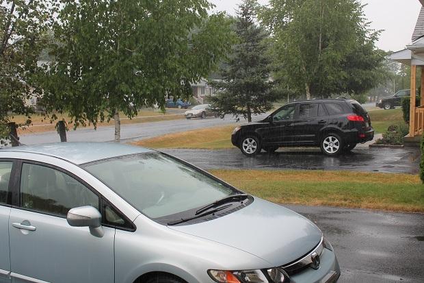 Rain at Last in Ingleside Ontario by Reg Coffey, July 17, 2012