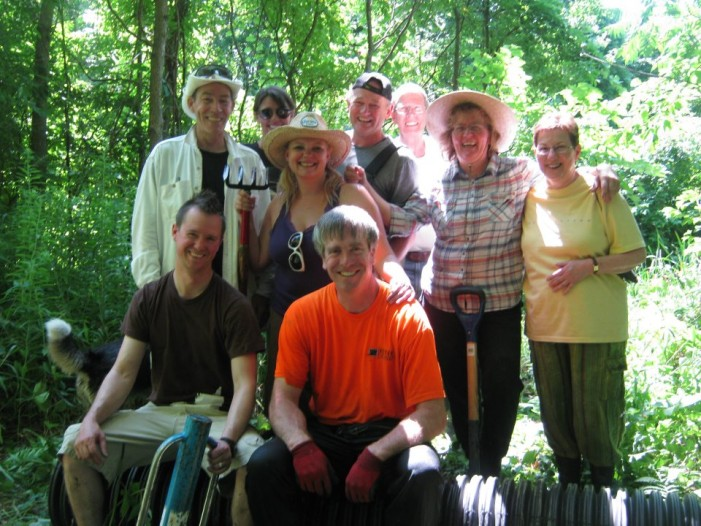 Guindon Park Installed with Flow Devices To End Beaver Trapping – An Adventure by Rebecca Sorrell – July 15, 2012