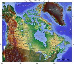 Canada TOPO