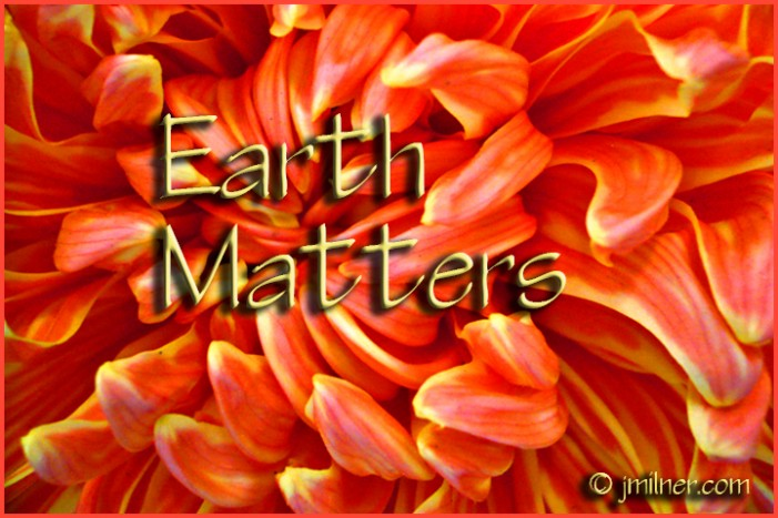Earth Matters by Jacqueline Milner – Simple Measures For a Better Future – August 30, 2012