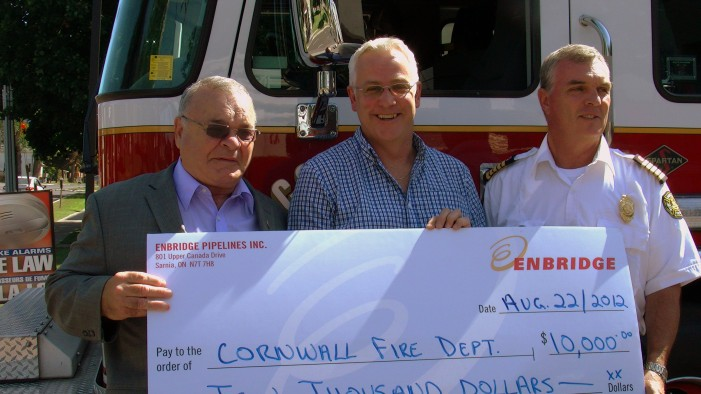 Ken Hall of Enbridge Pipelines Drops $16,000 on EMS & Fire Department in Cornwall Ontario
