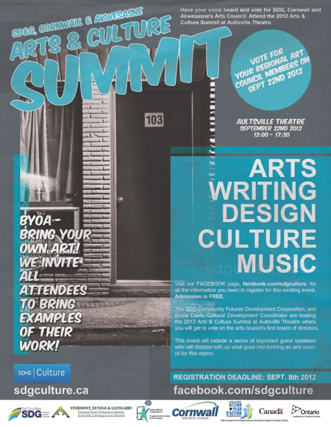 SD&G, Cornwall & Akwesasne Arts & Culture Summit – September 22, 2012 Aultsville Theatre – Cornwall Ontario