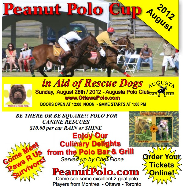 Peanut Polo Cup Fund Raiser at the Augusta Polo Club (Brockville Ontario) Sunday August 26, 2012