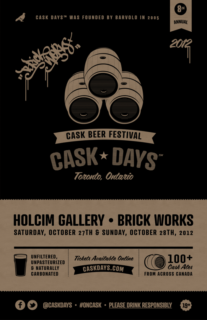 Cask Days Festival in Toronto Ontario –  October 27th & 28th, 2012