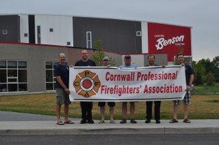 Cornwall Ontario Fire Fighters Honour $25,000 Yearly Pledge for Benson Centre!