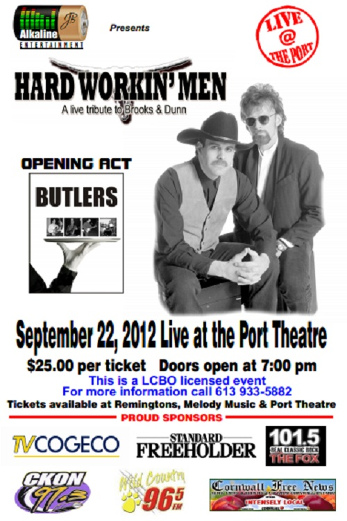 Brooks & Dunn Tribute Fund Raiser for the Port Theatre in Cornwall Ontario – September 22, 2012