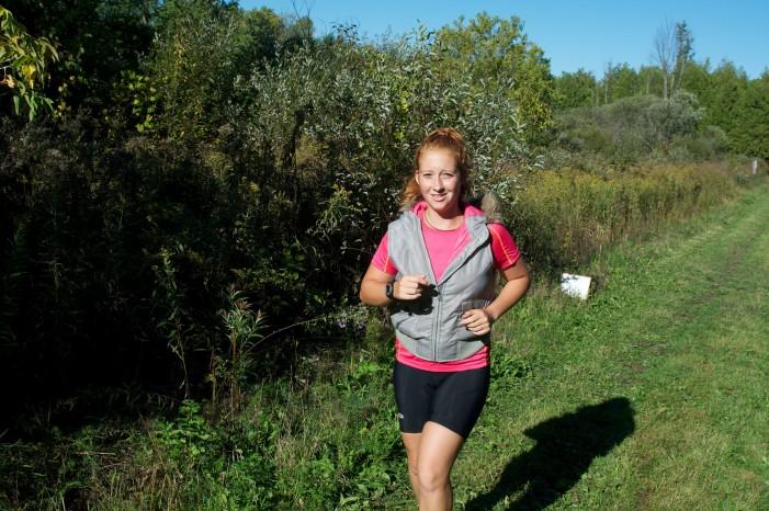 La Cité Collégiale Woman, Nadia  Périard Hat Trick at Terry Fox Run in Alexandria Ontario