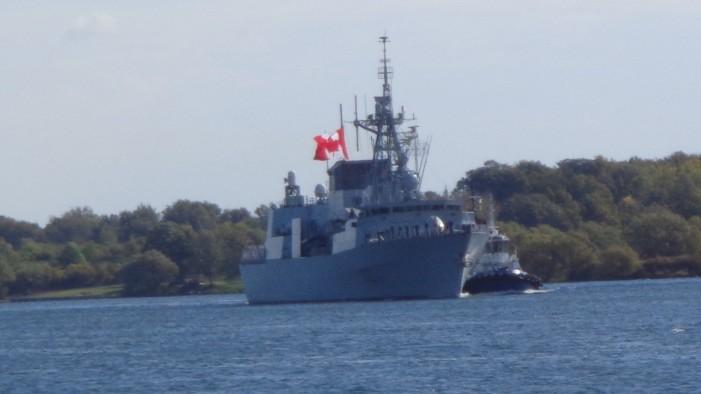 HMCS Ville de Quebec Arrives for Stop in Cornwall Ontario – September 25, 2012