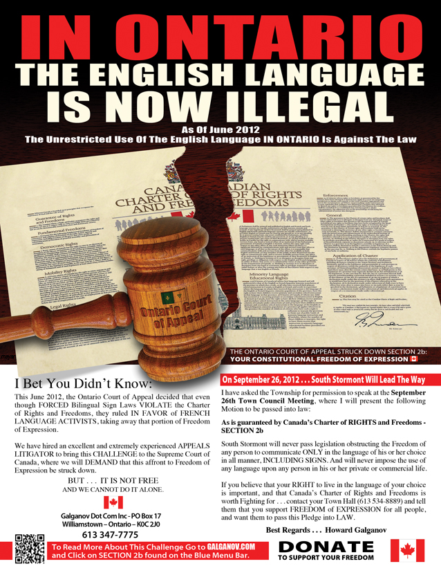 Language Rights in Canada For Your Language Rights