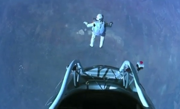 Austrian Jumper Felix Baumgartner Breaks Records as his Red Bull Stratos Jump Goes Off Without a Hitch!