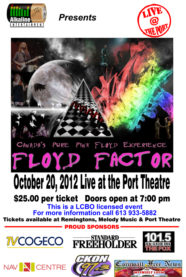 Floyd Factor Tribute to Pink Floyd LIVE at The Port Theatre in Cornwall Ontario – October 20, 2012