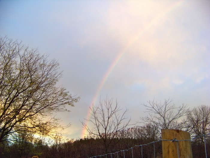 Rainbows in Eastern Ontario After Frankenstorm Sandy – Your Cornwall Free News Photo of the Day!