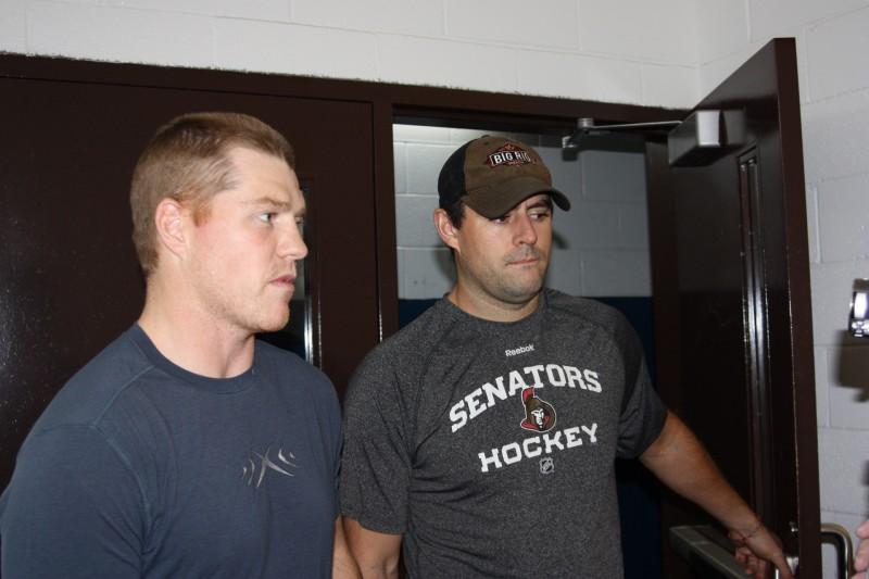 Ottawa Senators Chris Neil & Chris Phillips