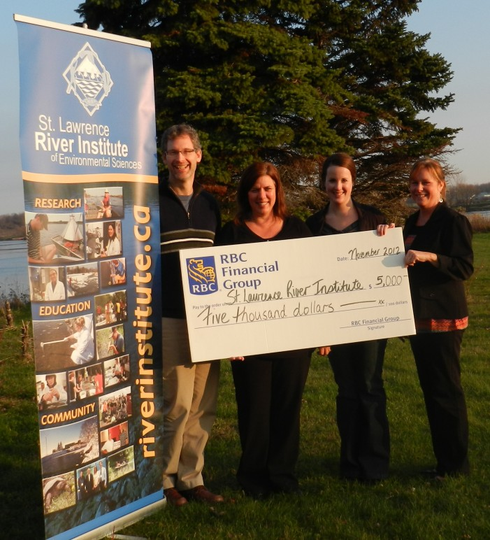 RBC Blue Water Fund Donates to the Eastern Ontario Children's Water Festival – November 20, 2012
