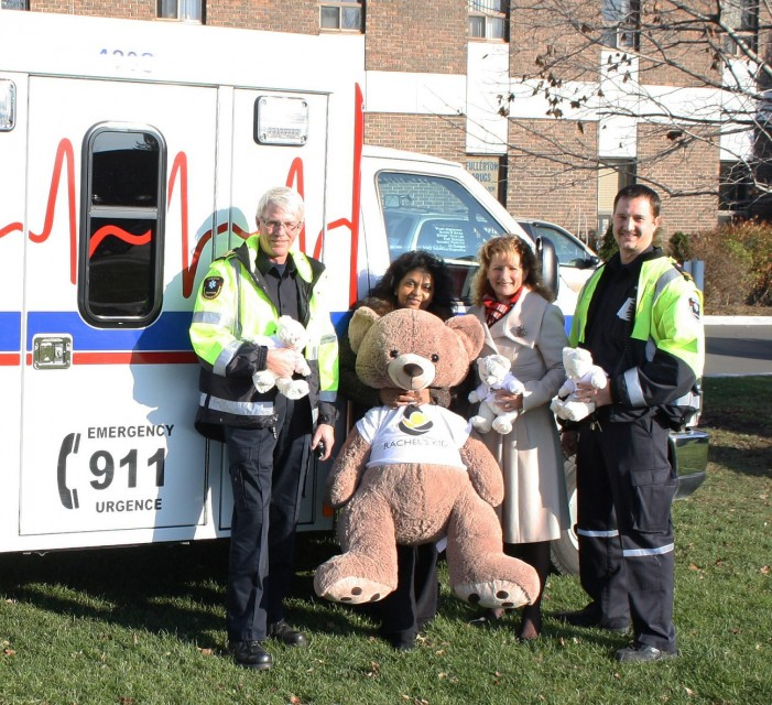 City of Cornwall Ontario Supports Rachel's Kids' Teddy Bear Fundraiser