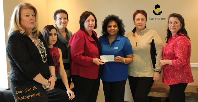 CUPE 3251 Presents Cheque to Rachel's Kids