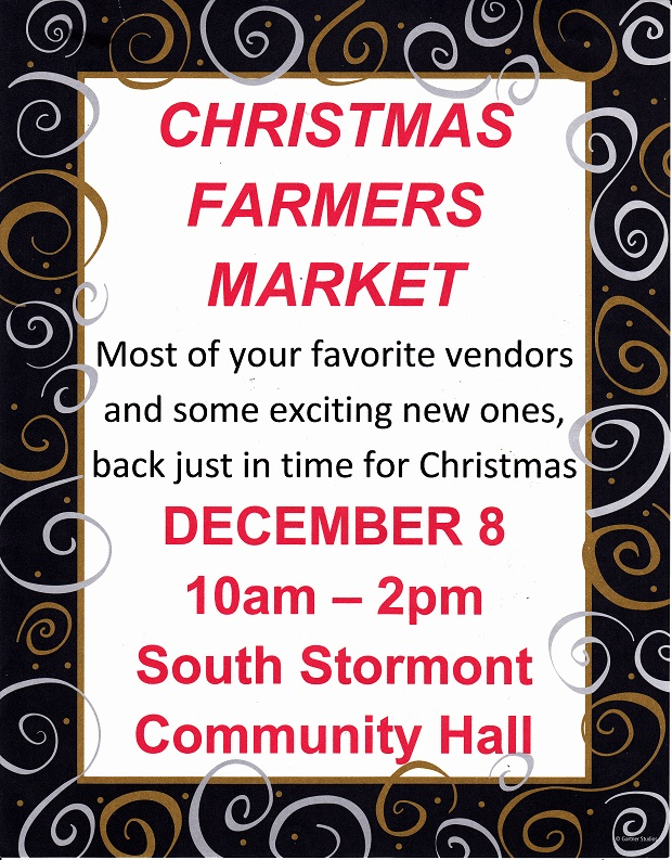 Long Sault Farmer's Market Does Christmas in South Stormont Ontario by Reg Coffey