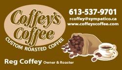 Coffey's Coffee Bus Card
