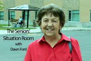 Seniors Situation Room by Dawn Ford Looking Back at Downtown Cornwall 121018