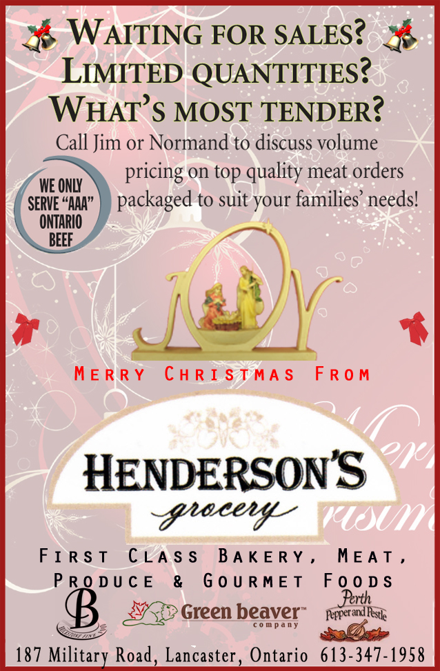 Henderson's Grocery in Lancaster Ontario – Christmas & Everyday Shopping