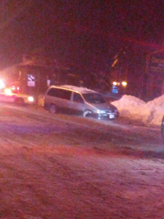 Sink Hole Catches Van in Cornwall Ontario – December 29, 2012
