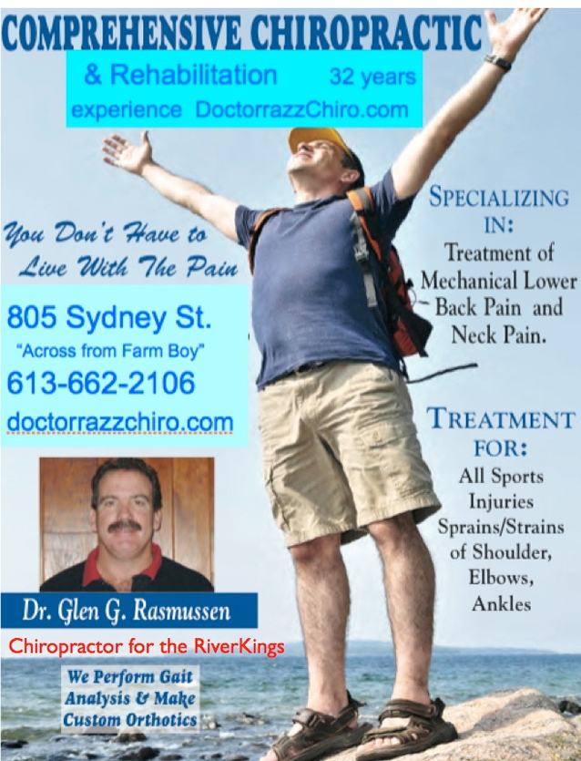"""Dr. Razz"" of Comprehensive Chiropractic Rehabilitation returns to Cornwall Ontario"
