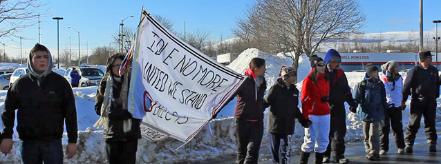 Idle No More Border Peaceful Blockade in Akwesasne by Don Smith – January 5, 2013