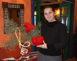 Katerina Delfakis of Katerina's Restaurant and Catering getting redy for their upcoming Valentine's Dinners and Show
